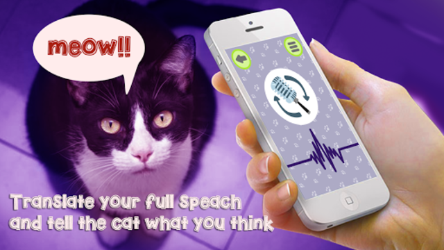Cat Language Translator Simulator - Talk to Pet screenshot 1