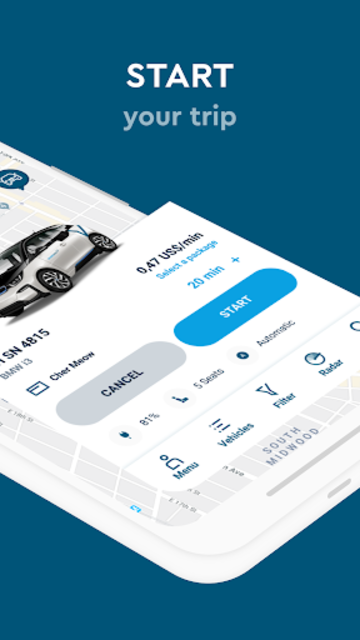 SHARE NOW - formerly car2go and DriveNow screenshot 3