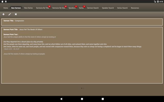 Caranba Sermon Notes screenshot 10
