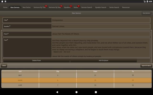 Caranba Sermon Notes screenshot 11