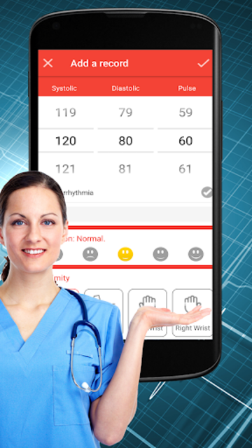 Blood Pressure Check : BP Logger : BP Tracker App screenshot 1