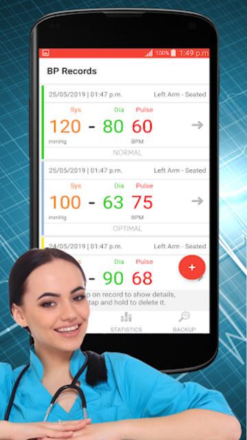 Blood Pressure Check : BP Logger : BP Tracker App screenshot 2