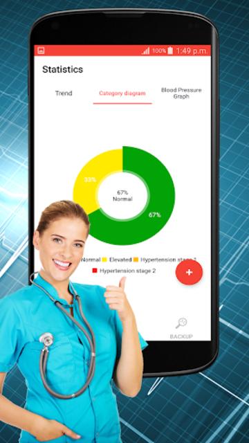 Blood Pressure Check : BP Logger : BP Tracker App screenshot 4