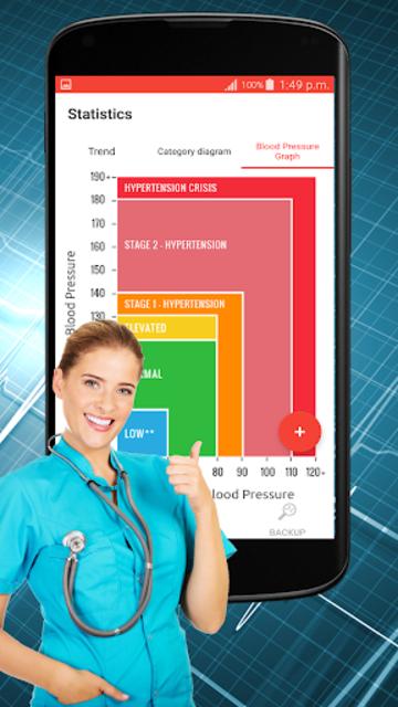 Blood Pressure Check : BP Logger : BP Tracker App screenshot 17