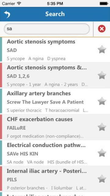 Cardiology Mnemonics screenshot 9