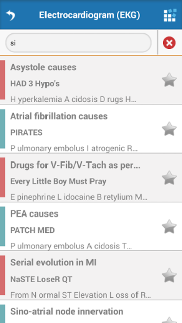 Cardiology Mnemonics screenshot 6
