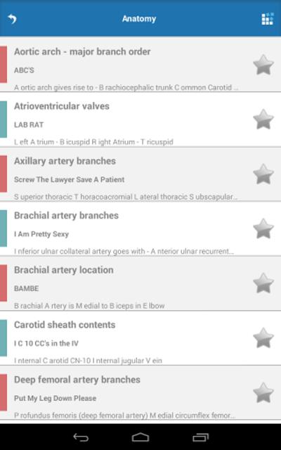 Cardiology Mnemonics screenshot 14