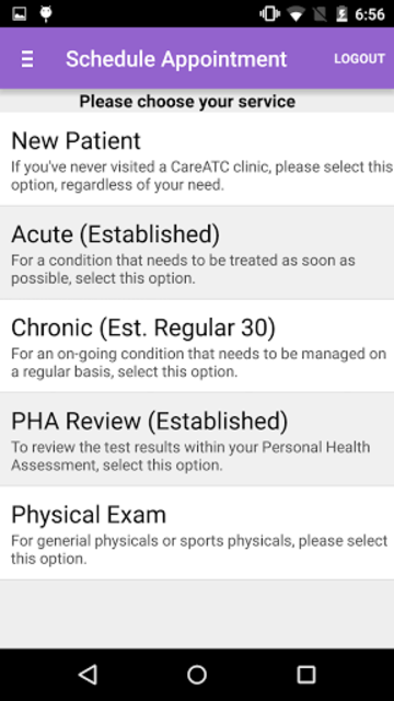 CareATC screenshot 1