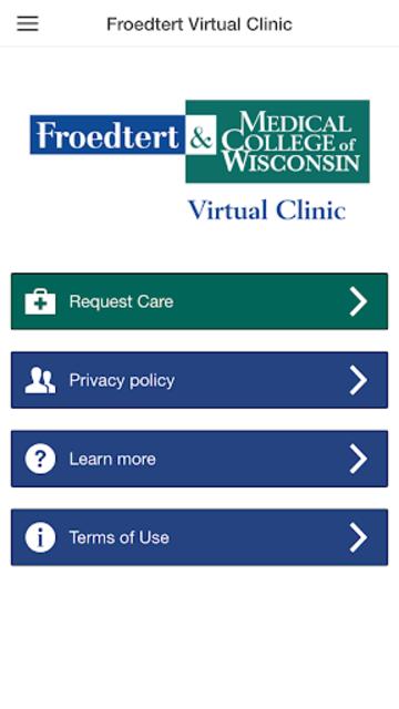 Froedtert Virtual Clinic screenshot 2