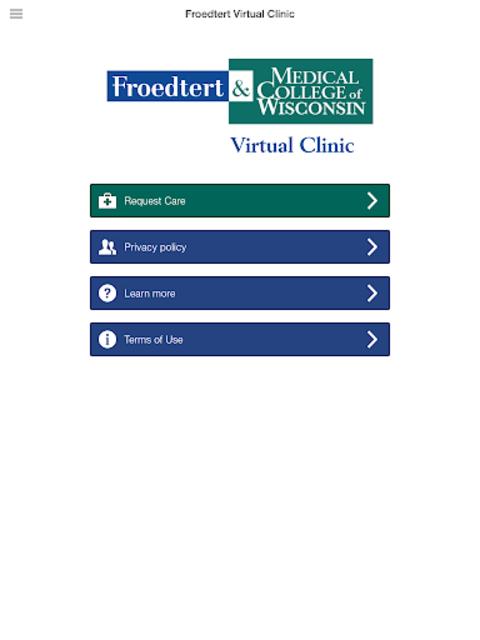 Froedtert Virtual Clinic screenshot 7