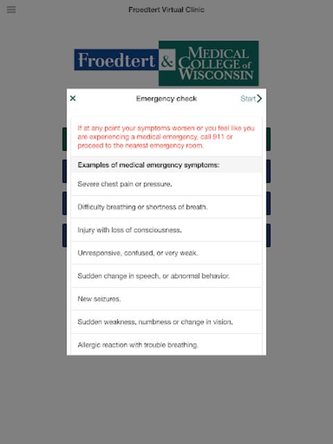 Froedtert Virtual Clinic screenshot 9