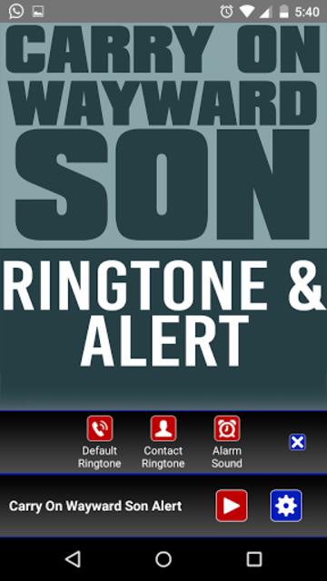 Carry On Wayward Son Ringtone screenshot 2
