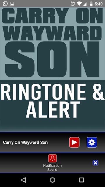 Carry On Wayward Son Ringtone screenshot 3