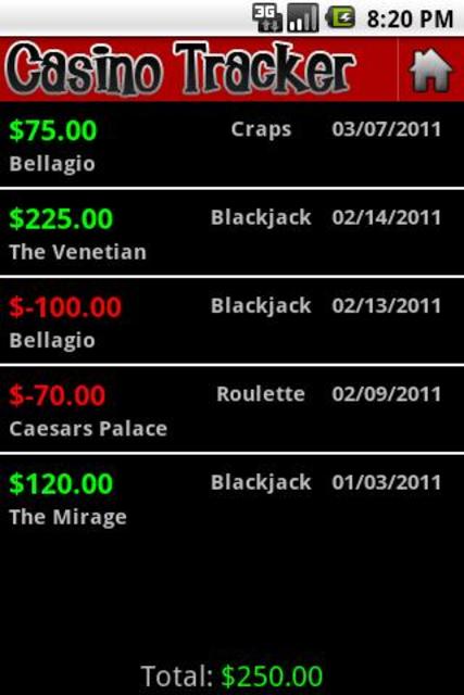 Casino Tracker screenshot 2