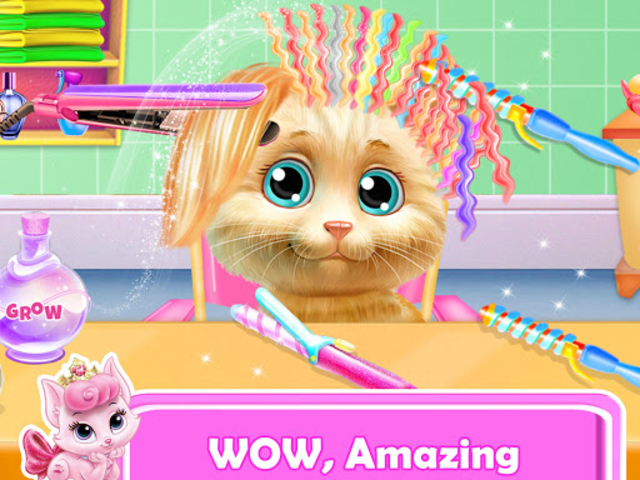 Pet Kitty Hair Salon Hairstyle Makeover screenshot 1
