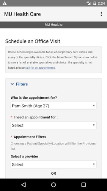MU Health Care screenshot 2