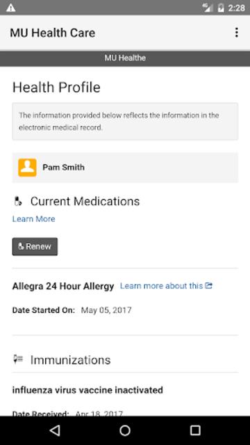 MU Health Care screenshot 5