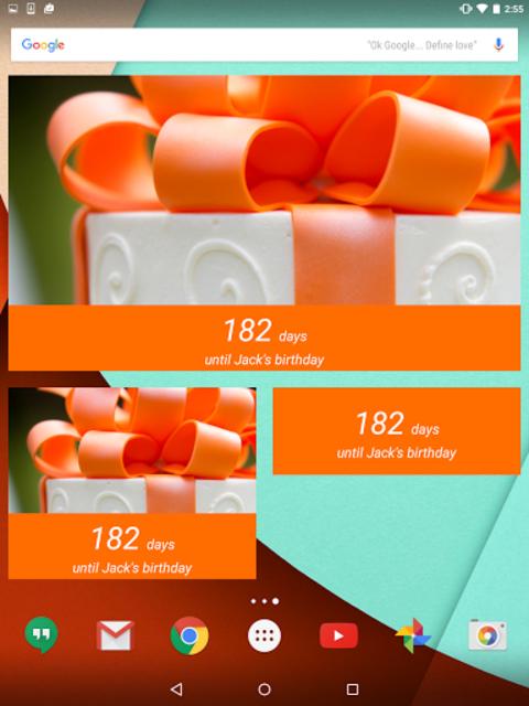 Birthday Countdown Widget screenshot 1