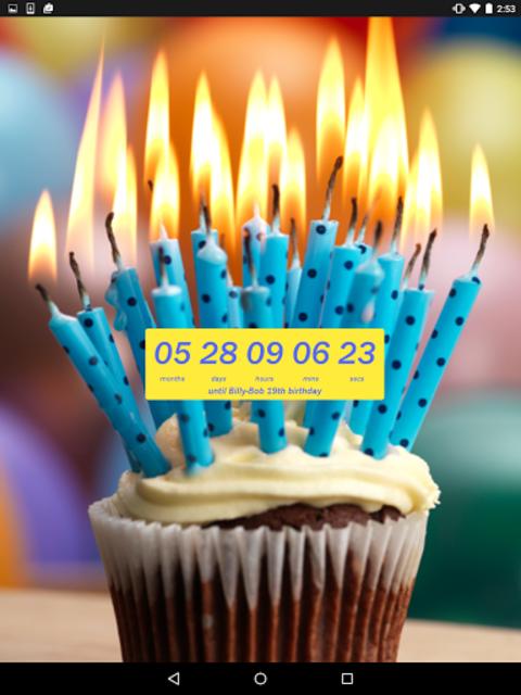 Birthday Countdown Widget screenshot 5