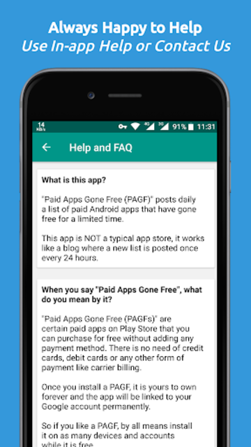 Paid Apps Gone Free - PAGF (Beta) screenshot 7