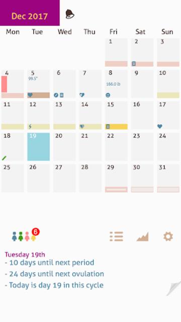 My Days X - Ovulation Calendar & Period Tracking screenshot 1