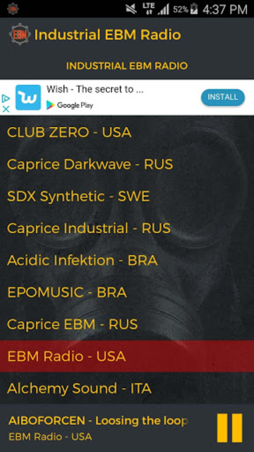 Industrial EBM Radio screenshot 5