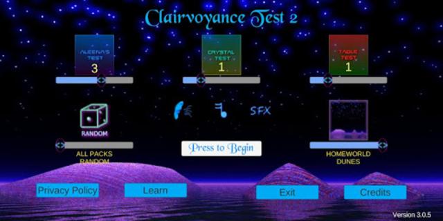 Clairvoyance Test 2 screenshot 1