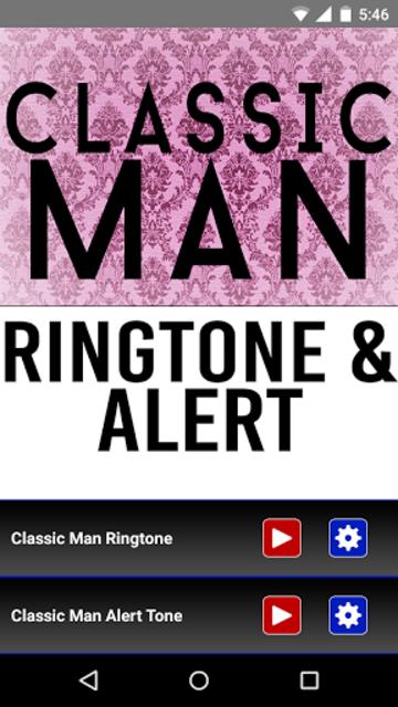 Classic Man Ringtone and Alert screenshot 1