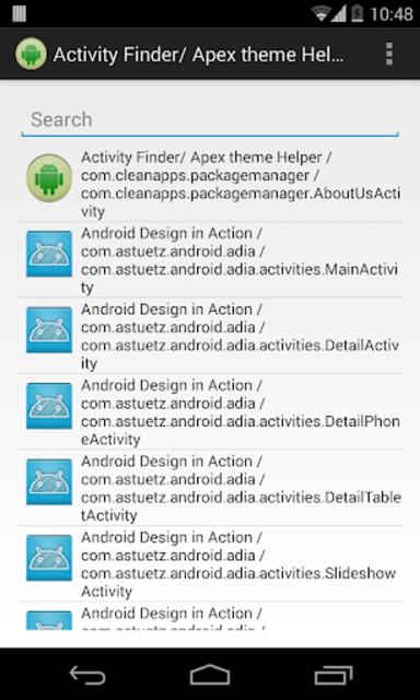 Activity Finder (Apex Theme) screenshot 1