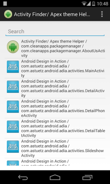Activity Finder (Apex Theme) screenshot 1