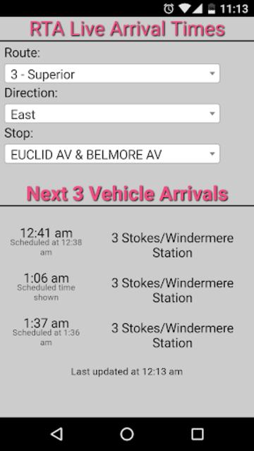 Cleveland RTA Bus Tracker screenshot 1