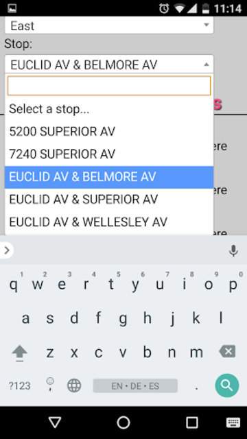 Cleveland RTA Bus Tracker screenshot 3