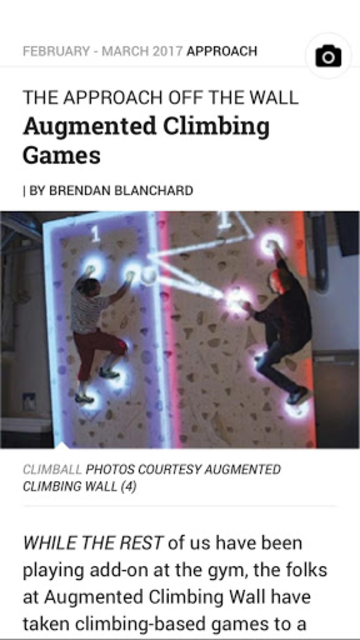 Climbing Magazine screenshot 2