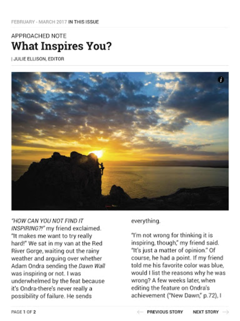 Climbing Magazine screenshot 10