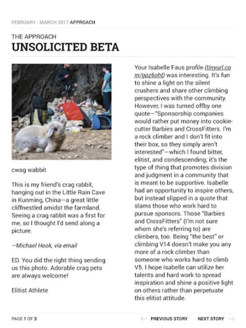 Climbing Magazine screenshot 14