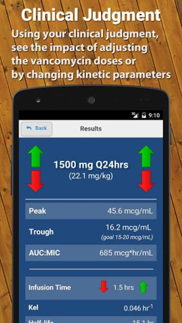 Vancomycin Calculator ClinCalc screenshot 3