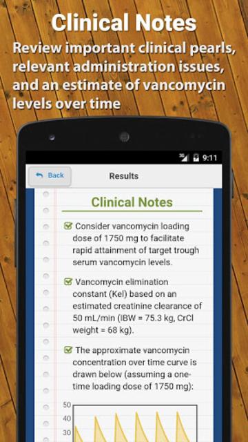Vancomycin Calculator ClinCalc screenshot 4