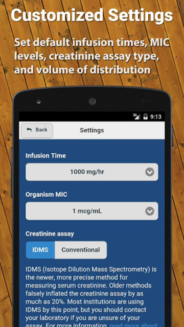 Vancomycin Calculator ClinCalc screenshot 5