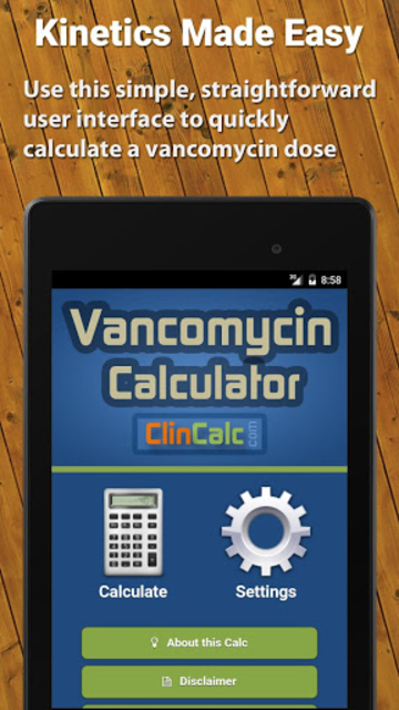 Vancomycin Calculator ClinCalc screenshot 6