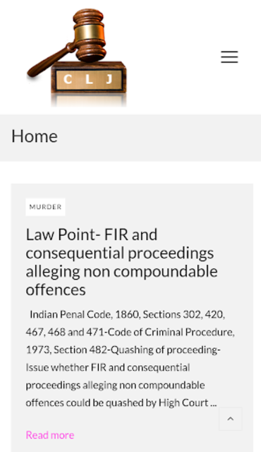 Case Law Journal screenshot 1