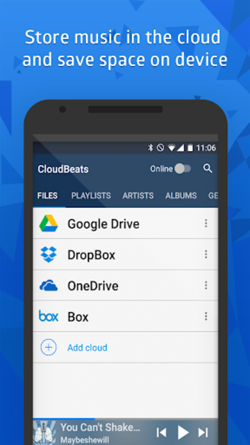 CloudBeats - offline & cloud music player screenshot 2