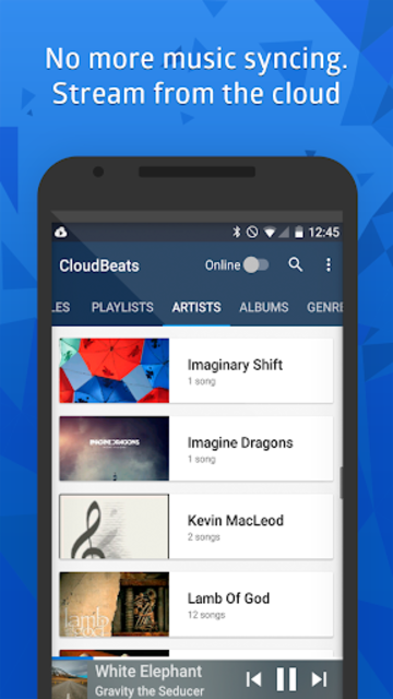 CloudBeats - offline & cloud music player screenshot 3