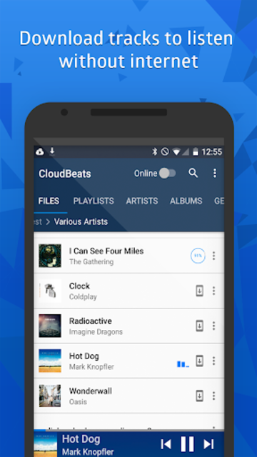 CloudBeats - offline & cloud music player screenshot 4
