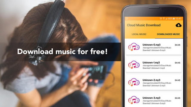 Free Music Download from Cloud Services Offline screenshot 1