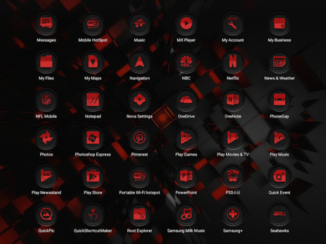 Jaron XE Red Icon Pack screenshot 12