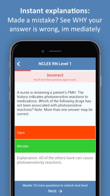 NCLEX Practice Test (PN&RN) 2018 Edition screenshot 2