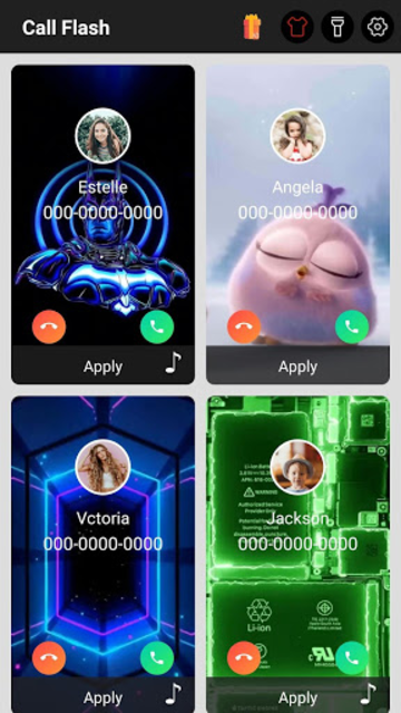 Color Call Flash - Screen Themes, LED FlashLight screenshot 1