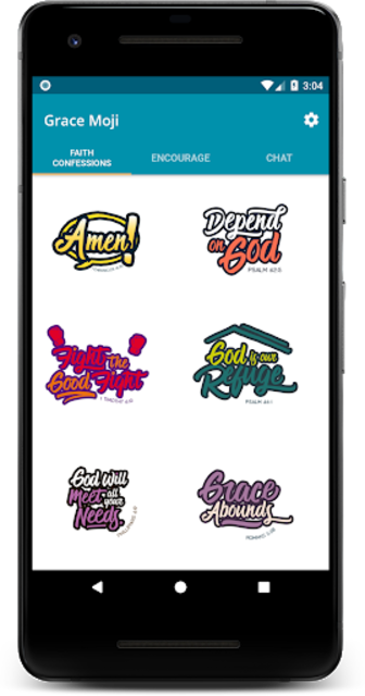 Grace Moji – Inspirational Emojis screenshot 1