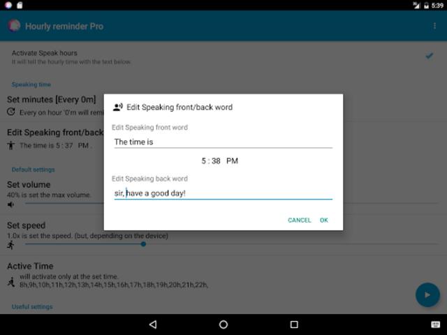 Hourly Reminder Pro (Talking) screenshot 12