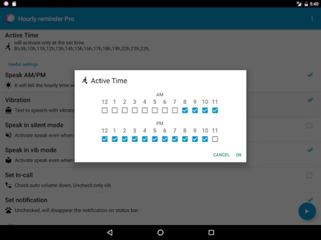 Hourly Reminder Pro (Talking) screenshot 13